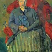 Porträt der Mme Cézanne in rotem Lehnstuhl. Museum of Fine Arts, Boston