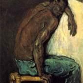 """Cezanne Paul - Cezanne, Impressionismus. Der Afrikaner Scipio. Das Gemälde """"Der Afrikaner Scipio"""" von Paul Cezanne als hochwertige, handgemalte Ölgemälde-Replikation. Quelle: www.oel-bild.de"""
