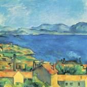 """Cezanne Paul - Cézanne Die Bucht von Marseille Das Gemälde """"Die Bucht von Marseille von L Estaque gesehen, 1886-90 """" von Paul Cezanne als hochwertige, handgemalte Ölgemälde-Replikation. Quelle: www.oel-bild.de"""
