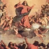Diese Bilder- Vorlage Maria Himmelfahrt Von Tizian als hochwertiges, handgemaltes Gemälde. Wir malen Ihr Ölgemälde nach Ihrer Vorlage. Originalformat: 690 x 360 cm Entstanden: 1516-1518