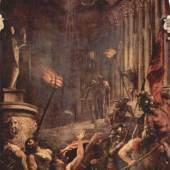 Diese Bilder-Vorlage Martyrium des Heiligen Laurenzius Von Tiziano Malerei als hochwertiges, handgemaltes Gemälde. Wir malen Ihr Ölgemälde nach Ihrer Vorlage. Originalformat: 500 x 280 cm Entstanden: 1548-1559