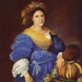 Tizian  Portrait der Laura de Dianti Renaissance   Diese Bilder-Vorlage Portrait der Laura de Dianti Von Tizian als hochwertiges, handgemaltes Gemälde. Wir malen Ihr Ölgemälde nach Ihrer Vorlage.