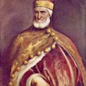 Diese Bilder- Vorlage Portrait des Dogen Andrea Gritti Von Tizian Bilder als hochwertiges, handgemaltes Gemälde. Wir malen Ihr Ölgemälde nach Ihrer Vorlage. Originalformat: 133 x 103,2 cm Entstanden: um 1540