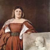 Diese Bilder-Vorlage Portrait einer Frau (La Schiavona) Von Tizian als hochwertiges, handgemaltes Gemälde. Wir malen Ihr Ölgemälde nach Ihrer Vorlage. Originalformat: 117 x 97 cm Entstanden: um 1510