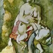 """Cezanne, Paul  Medea Impressionismus   Das Gemälde """"Medea"""" von Paul Cezanne als hochwertige, handgemalte Ölgemälde-Replikation. Originalformat: 38 x 20 cm. Quelle: www.oel-bild.de."""