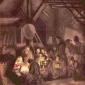 Gemälde Rembrandt, Anbetung der Hirten, 1646 Quelle: www.oel-bild.de