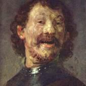 Rembrandt Werke, Selbstbildnis mit Halsberge, 1629 Quelle: www.oel-bild.de