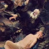 Rembrandt  Der Engel verhindet die Opferung Isaaks Barock   Diese Bilder-Vorlage Der Engel verhindet die Opferung Isaaks Von Rembrandt als hochwertiges, handgemaltes Gemälde. Wir malen Ihr Ölgemälde nach Ihrer Vorlage.