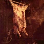 Rembrandt Werke, Geschlachteter Ochse, 1655 Quelle: www.oel-bild.de