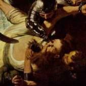 """Rembrandt Werke, Detailansicht: Die Blendung Simons"""" 1636 Quelle: www.oel-bild.de"""