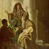Gemälde Rembrandt, Simeon im Tempel ca. 1628 Quelle: www.oel-bild.de