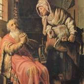 Rembrandts, Tobias verdaechtigt seine Frau des Diebstahls, 1626 Quelle: www.oel-bild.de