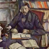 """Cezanne, Paul  Portraet Gustave Geffroy Impressionismus   Das Gemälde """"Portraet Gustave Geffroy"""" von Paul Cezanne als hochwertige, handgemalte Ölgemälde-Replikation. Originalformat: 116 x 82 cm. Quelle: www.oel-bild.de."""