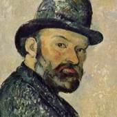 "Cezanne, Paul  Selbstportraet Impressionismus   Das Gemälde ""Selbstportraet"" von Paul Cezanne als hochwertige, handgemalte Ölgemälde-Replikation. Originalformat: 44 x 36 cm. Quelle: www.oel-bild.de."