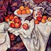 """Cezanne, Paul  Stillleben mit Aepfeln und Orangen Impressionismus   Das Gemälde """"Stillleben mit Äpfeln und Orangen"""" von Paul Cezanne als hochwertige, handgemalte Ölgemälde-Replikation. Originalformat: 73 x 92 cm. Quelle: www.oel-bild.de."""
