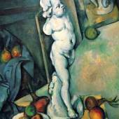 "Cezanne Paul - Cézanne Stilleben mit Putto. Das Gemälde ""Stilleben mit Putto, 1894-1895"", Nationalmuseum in Stockholm. Quelle: www.oel-bild.de."