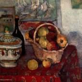 """Cezanne, Paul  Stillleben mit Suppenterrine Impressionismus   Das Gemälde """"Stillleben mit Suppenterrine"""" von Paul Cezanne als hochwertige, handgemalte Ölgemälde-Replikation. Originalfomat: 65 x 815 cm. Quelle: www.oel-bild.de."""