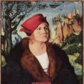 Cranach, Lucas  Portrait des Dr. Johannes Cuspinian Renaissance   Diese Bilder-Vorlage Portrait des Dr. Johannes Cuspinian Von Cranach, Lucas als hochwertiges, handgemaltes Gemälde. Wir malen Ihr Ölgemälde nach Ihrer Vorlage. Originalformat: 59 x 45 cm. bildmaterial: www.oel-bild.de