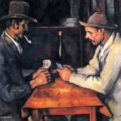 "Cezanne Paul - Cézanne Zwei Kartenspieler Das Gemälde ""Zwei Kartenspieler"" von Paul Cezanne als hochwertige, handgemalte Ölgemälde-Replikation. Quelle: www.oel-bild.de"