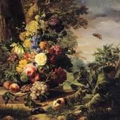 Josef Nigg Blumen Auktionsergebnis: € 313.300,- Öl auf Leinwand 92,5 x 95 cm