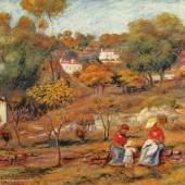 """Renoir, Pierre Auguste Landschaft bei Cagnes Impressionismus Das Gemälde """"Landschaft bei Cagnes"""" von Pierre Auguste Renoir als hochwertige, handgemalte Ölgemälde-Replikation. Quelle: www.oel-bild.de"""