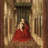 """Eyck, Jan van  Small Triptych (Central Panel) Altniederlaendische Malerei   Das Gemälde """"Small Triptych (Central Panel)"""" von Eyck, Jan van als hochwertige, handgemalte Ölgemälde-Replikation. Bildmaterial: www.oel-bild.de"""