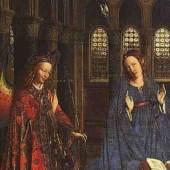 """Eyck, Jan van  The Annunciation Altniederlaendische Malerei   Das Gemälde """"The Annunciation"""" von Eyck, Jan van als hochwertige, handgemalte Ölgemälde-Replikation. Entstanden: 1435. www.oel-bild.de"""