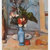 Cezanne Paul - Cézanne Meister des 19.Jahrhunderts 1839 - 1906 Die blaue Vase , Diese um 1885 bis 1887 gemalte Bild des Pariser Musee d Orsay. Quelle: www.oel-bild.de.
