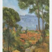 Cezanne Paul - Cézanne Meister des 19.Jahrhunderts 1839 - 1906. Ansicht von Estaque , 1896 Öl auf Leinwand - Fitzwilliam Museum, Camebridge Motivformat: 55,0 x 43,0 cm (HxB) Bildmaterial: reisserbilder.at