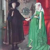 Eyck Jan van um 1390 - 1441   Hochzeit d.Giovanni Arnolfini u.d.Giovanna Cenami National Gallery, London. Bildmaterial: reisserbilder.at