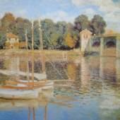 Monet Claude 1840 - 1926   Brücke von Argenteuil. Bildmaterial: reisserbilder.at