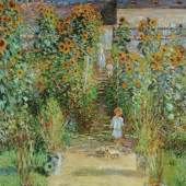 Monet Claude 1840 - 1926   Der Garten des Künstlers in Vetheuil - 1881 The Natinal Gallery of Art, Washington, DC. Bildmaterial: reisserbilder.at