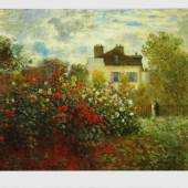Monet Claude Meister des 19.Jahrhunderts 1840 - 1926. Der Garten des Künstlers in Argenteuil Drucktechnik: Offset-Druck The National Gallery of Art, Washington, DC. Kunstdrucke. Bildmaterial:  reisserbilder.at