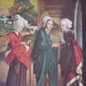 Pacher Michael Activ 1445 - 1498   Mariae Heimsuchung vom linken Predellaflügel des Altars von St.Wolfgang. Bildnachweis: reisserbilder.at