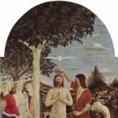 Piero della Francesca (zwischen 1416/17 – 1492) Taufe Christi, um 1450 Eitempera auf Pappelholz, 167 x 116 cm National Gallery, London