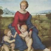 Raphael (Raffaele Santi) 1483 (Urbino) - 1520 (Rom)   Die Madonna im Grünen Kunsthistorisches Museum, Wien - KHM. Bildmaterial: reisserbilder.at