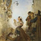 ROMAKO, Anton 1832 – 1889 Pifferari vor einem Muttergottesbild spielend Auktionsergebnis: € 63.000 VB