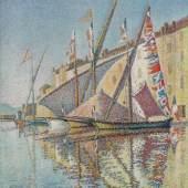 Signac Paul 1863 - 1935   Hafen von St.Tropez Städtisches Museum, Wuppertal. Bildmaterial: reisserbilder.at