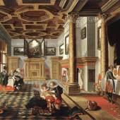 Bankett Renaissance-Interieur, Gemälde von Bartholomeus van Bassen, 1618–1620 (c) wikipedia.org