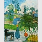 Gauguin Paul 1848 - 1903   Landschaft in der Bretagne Kunstmuseum, Basel  ©  reisserbilder.at