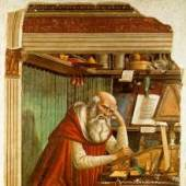 Domenico Ghirlandaio, Saint Jerome in his Study  1480  Church of Ognissanti, Florence