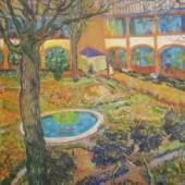 Biographie Vincent van - van Gogh, Der Garten im Krankenhaus in Arles Privatbesitz Wien KUNSTVERLAG REISSER Kunstdrucke, Bilder, Poster-Shop