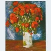 *       Gogh Vincent van - van Gogh Meister des 19.Jahrhunderts 1853 - 1890 Mohnblumen - 1886 KUNSTVERLAG REISSER Kunstdrucke, Bilder, Poster-Shop