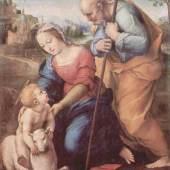 """Raffael  Heilige Familie mit einem Lamm Renaissance  Das Gemälde """"Heilige Familie mit einem Lamm"""" von """"Raffael"""" als hochwertige, handgemalte Ölgemälde-Replikation. www.oel-bild.de"""