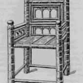 Altertum finden wir auch den Faltstuhl. (c) antique.co.at