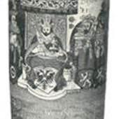Kurfürstenhumpen mit Kaiser Rudolf II. und den sieben Kurfürsten. Nordböhmen, 1650.
