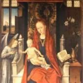 Memling Hans 1433 - 1494   Thronende Maria Berlin, Staatl.Museen Preuß.Kulturbesitz - Gemäldegalerie. Bildmaterial: reisserbilder.at