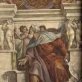Michelangelo Buonarroti Der Prophet Ezechiel Sixtinische Kapelle, Rom. Quelle: Michelangelo Sibyllen und Propheten. Insel, Lpz., 1939.