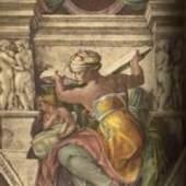 Michelangelo Buonarroti Libysche Sibylle Sixtinische Kapelle, Rom. Quelle: Michelangelo Sibyllen und Propheten. Insel, Lpz., 1939.