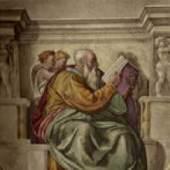 Michelangelo Buonarroti Prophet Zacherias Sixtinische Kapelle, Rom. Quelle: Michelangelo Sibyllen und Propheten. Insel, Lpz., 1939